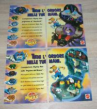 1993 vintage MIGHTY MAX Doom Zones Arachnoid & Skull Dungeon Print Ads Italy