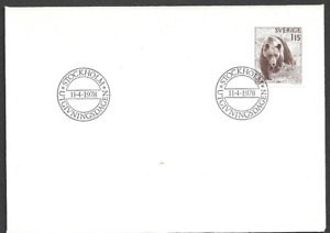 SWEDEN - 1978 Bear - FIRST DAY COVER.