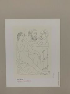 PABLO PICASSO,'THE SCULPTOR AND HIS MODEL,1936' RARE AUTHENTIC 1992 ART PRINT