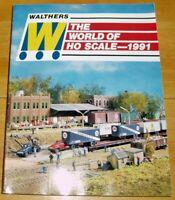 Walthers World of HO Scale 1991 Modellbahn Katalog Lok Spur Sammlung Werbung