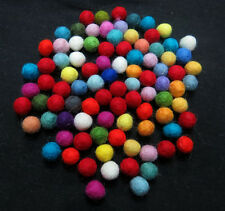 FB2 Hand Crafted 1cm 200pc Decorative multi wool Felt Ball pom pom beads Nepal