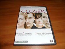 Closer (DVD, 2005, Widescreen) Natalie Portman, Julia Roberts Used