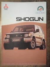 MITSUBISHI SHOGUN orig 1991 UK Mkt Sales Brochure - Pajero