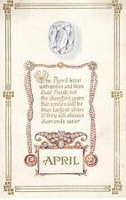 Postcard: Birthday Greetings - April Poem
