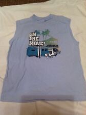 """Charlie Rocket Boy Size 4 Muscle Tee """"on The Move"""""""