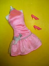 Barbie Fashionista Style Glam TAGGED Doll Clothes Lot SASSY PINK DRESS B Label