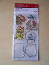 RECOLLECTIONS-NOEL-CLEAR STAMPS & DIE SET- HAPPY HOWLIDAYS- DOGS- 8 PIECES