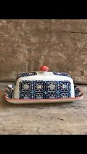 ROYAL porcelain butter dish - Preowned, but never used and still has tags.