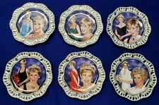 """Bradford Exchange """"The Sparkle of Diana"""" Collector's Plates Set of 6"""