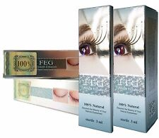 FEG (2PACK) Eyelash Enhancer Eye Lash Rapid Growth Serum Liquid 100% Natural 3ml