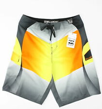 Billabong Mens Classic Fluid Boardshorts Orange Combo 32 New