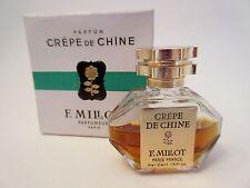 Vintage Crepe De Chine Perfume Splash 1/5 Oz. By F. Millot in Box!