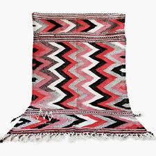 "Boucherouite azilal rug handmade carpet Vintage Moroccan 5'7"" X 4' Morocco rug"