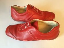 TOD'S Red Leather Women's Driving Moc Shoes Size 35 US 4.5
