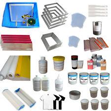 4Color Screen Printing DIY Materials Hobby Kit Simple Exposure Ink Chemical Tool