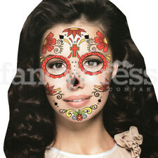 Fake Eye Face Tattoo Day of the Dead Sticker Festival Body Art Makeup Party  101