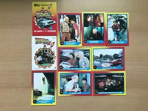 9 Back to the future trading cards.& 1 sticker card - mixed lot (1989)