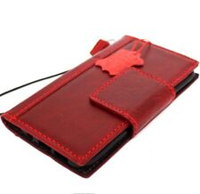 genuine full leather Case for Samsung Galaxy S7 book wallet cover red magnet 7 s