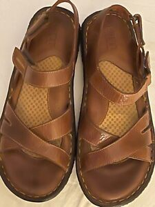 New Born Sandals Light Brown Leather B06516 Size 8 M/W