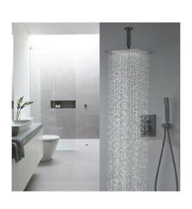 TNOMS Bathroom Luxury Rain Mixer Shower Combo Set Shower Faucet Set side shower
