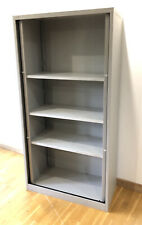 More details for bisley tall tambour unit cupboard - used -light grey - 3 shelves - height 2220mm