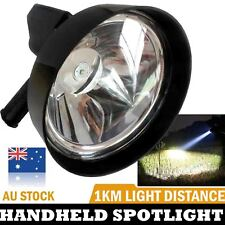 100W SPOTLIGHT LED Handheld Work Search Spot Light 12v Plug Built-in Battery 7''