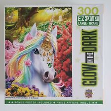 """MasterPieces Puzzle 300 Large Pieces 24"""" x 18"""" Her Majesty's Jewels Unicorn"""