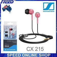 Sennheiser CX 215 In-Ear Stereo Headphones for iPhone Smartphones - Red -GENUINE