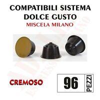 96 Capsule Cialde Caffè ADALET compatibili Nescafe Dolce MISCELA MILANO CREMOSO