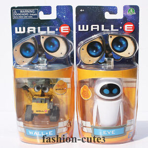 2 pcs Lot New In box Wall E Walle Eve Movie Toys Wall-E Robot action Figures