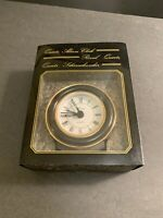 Vintage Present a traveling alarm clock W/ Box Early quartz Made in West Germany