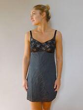 Vintage retro true 60s XS Gossard black mini petticoat slip very good
