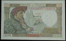 UNE RARETE EN NEUF;50 francs J. COEUR;émis le 11.9.1941;FAY 19/14.UNC.