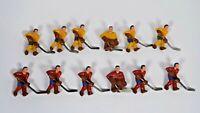 VINTAGE 1970'S STIGA NHL STIGA TEAM TABLE HOCKEY GAME PLAYERS (12) 2 TEAMS