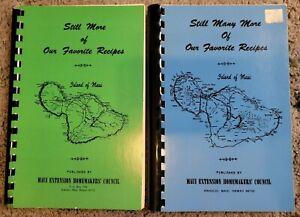 MAUI HAWAII MORE RECIPES 2 COOK BOOK LOT VINTAGE SPIRAL LOCAL COOKBOOK RECIPES