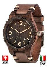 Mens WeWood Brown Alpha SW Choco Rough Wooden Watch Italian NEW Excellent