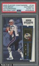 2000 Contenders Rookie Ticket #144 Tom Brady Patriots RC PSA/DNA 10 AUTO