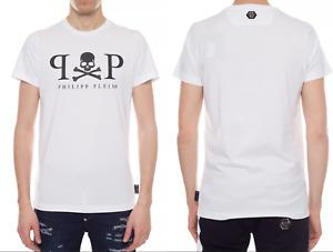 Philipp Plein Men's Platinum Cut Skull Logo Shirt round Neck T-Shirt New XL