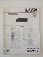 Schema SONY - Service Manual Integrated Stereo AV Amplifier TA-AV570 TAAV570