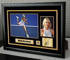 "Maria Sharapova Wimbledon Enmarcado Lona Homenaje impresión firmada ""Gran Regalo"" # 2"