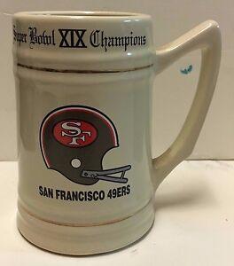 San Francisco 49ers Superbowl XIX Champions Stein Mug Tankard NFL
