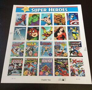 MARVEL COMICS SUPER HEROES US POSTAL STAMPS! MINT! 2006 EDITION SPIDER-MAN HULK