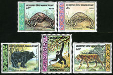 Laos 192-193,C59-C61, Mnh. Animals:Chinese Pangolin,Black Bear,Gibbon,Tiger,1969