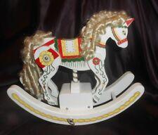 Vtg Japanese Wooden Rocking Horse Music Box-It Really Rocks & Legs Gallop!