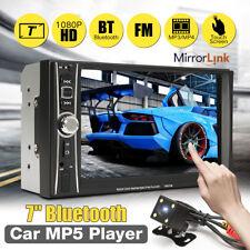 "7"" 2 DIN Auto Car MP5 MP3 Player Bluetooth Touch USB FM Stereo Radio + Camera"