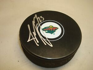 JT Brown Signed Minnesota Wild Hockey Puck Autographed 1A