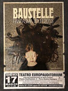 BAUSTELLE FANTASMA TOUR Poster Concerto Manifesto Originale 2013