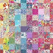 "50 Liberty Tana lawn fabric 2.5"" Patchwork Charm Squares - 'LUCKY DIP' - Set 117"