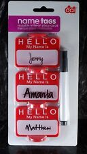 """Reusuable Write-On """"HELLO My Name is..."""" Name Tag Place Cards from DCI #33117"""