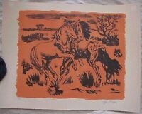 YVES BRAYER Original Lithograph Wild Horses Signed Pencil Bought early '70s New